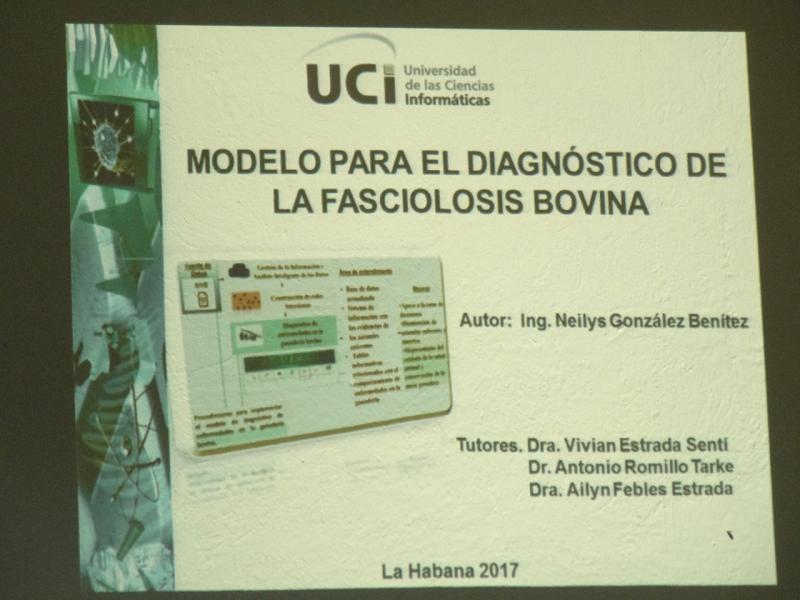 Presentación de tesis doctoral de especialista pinareña.