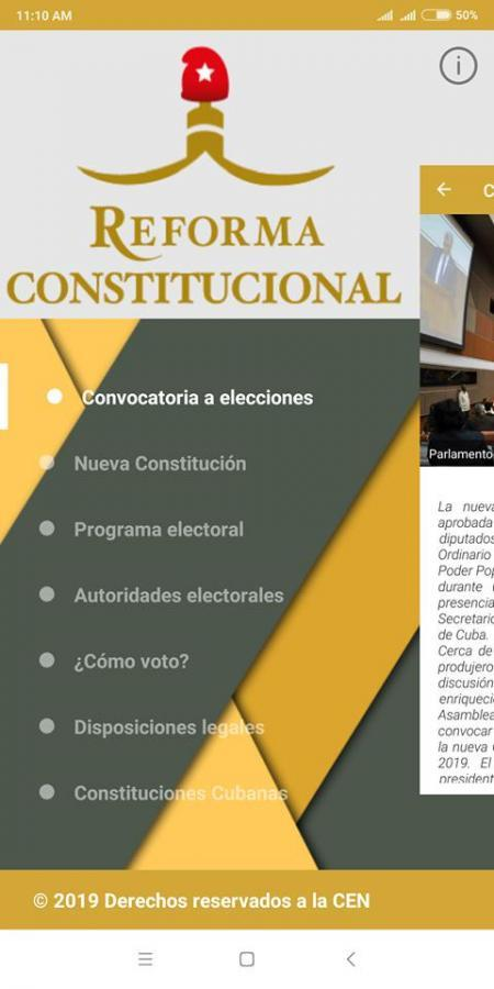 Otro de los productos desarrollados por la UCI de cara al referendo constitucional es una aplicación para dispositivos móviles con sistema operativo Android