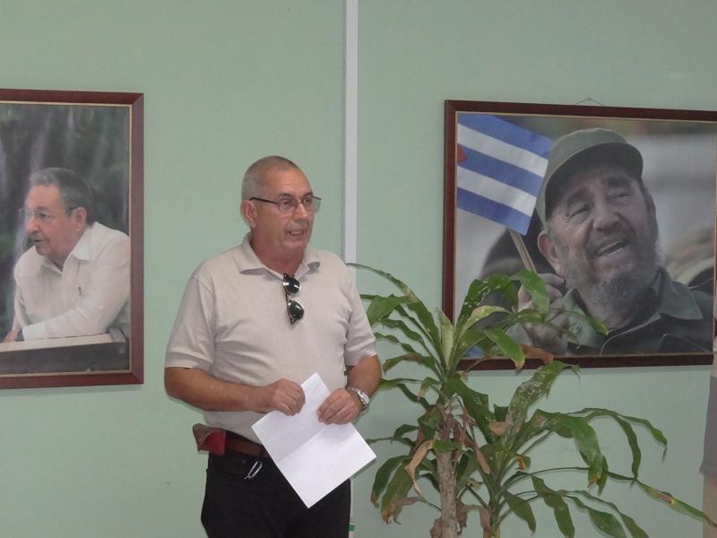 Jorge Menéndez Pérez, profesor del Departamento de Enseñanza Militar