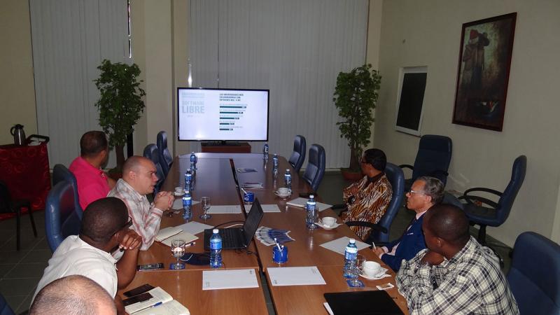 La presentación del campus universitario estuvo a cargo del vicerrector de Producción, el MSc. Reynaldo Rosado Roselló.