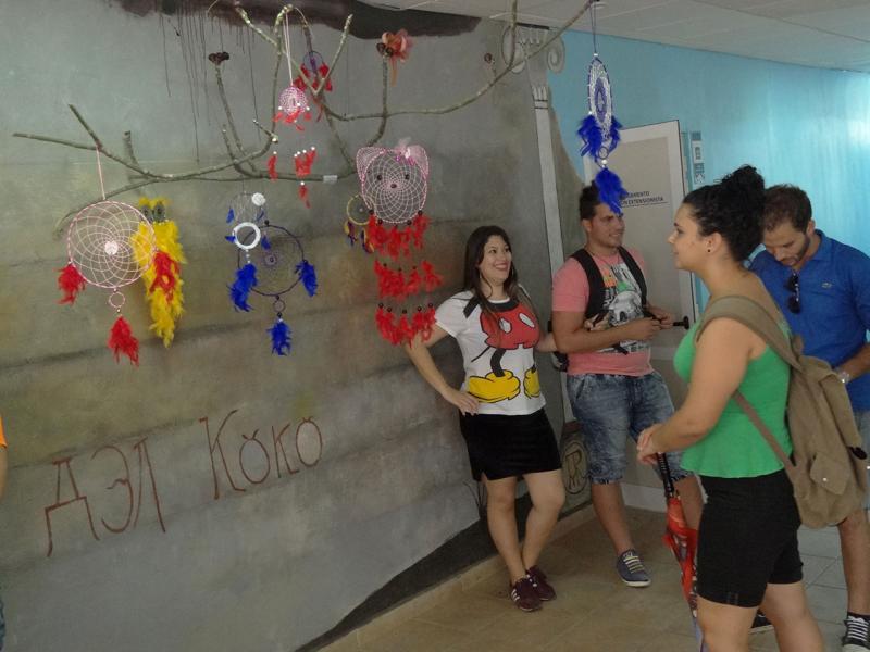 Variadas resultaron las iniciativas de los estudiantes en la manifestación de artes plásticas.