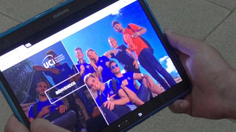 Vista del portal UCI desde una tableta.