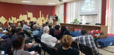 La comunidad científica de la UCI, comprometida a potenciar la ciencia, la tecnología y la innovación en pro de la sociedad cubana. Foto: Evelio Antonio Piedra Cueria