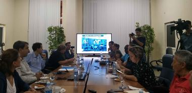 Los periodistas recibieron una amplia información acerca de los programas de estudio de la Universidad. Foto: Rislaidy Pérez Ramos