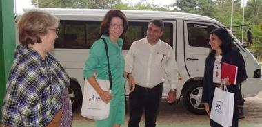 UCI Rector welcomed the German visitor at the José Martí School Building