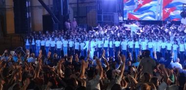 Tribute of the Cuban youth to our everlasting Fidel