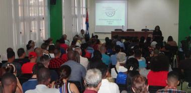 Inauguración de la IX Escuela Internacional de Invierno en la UCI. Foto: Juan Félix Hernández Rodríguez