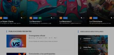 Sitio web de la plataforma COSMOX