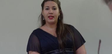 La MSc. Marieta Peña, jefa del Departamento de Ingeniería de Software de la Facultad 3, próxima a convertirse en Doctora en Ciencias