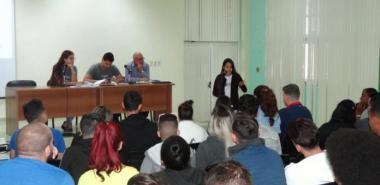 Los jóvenes universitarios en el encuentro desmostraron su compromiso con la FEU y con Cuba. Foto: Juan Félix Hernández Rodríguez