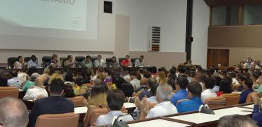 Claustro universitario en la Sala 4 del Palacio de las Convenciones de La Habana.