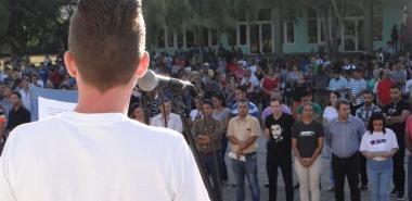 En el acto central de la UCI por el 4 de Abril se ratificó el compromiso de los jóvenes con la Revolución Cubana.
