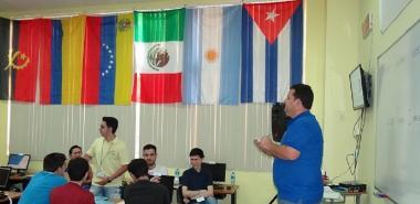 El Ing. Dovier Antonio Ripoll Méndez, director general del ICPC en el Caribe, da inicio oficial al campamento