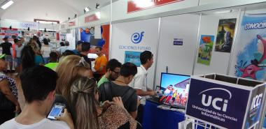 UCI exhibition stand at the Havana International Book Fair