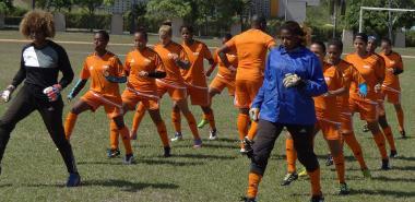 Equipo nacional de fútbol femenino.