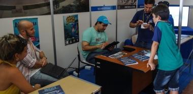 Stand de la UCI en la 26 Feria Internacional del Libro de La Habana, en febrero de 2017