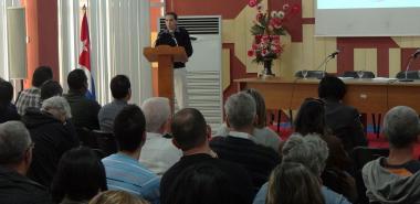 El vicerrector primero de la UCI, Dr.C. Raydel Montesinos Perurena, presentó el Informe de los principales resultados de esta casa de altos estudios.