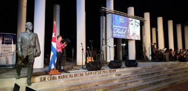 """Velada político- cultural """"Fidel es un país""""."""