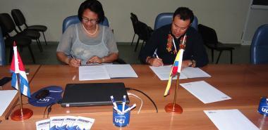 La Rectora de la UCI y el Rector de la Universidad Técnica Nacional de Ecuador firman convenio