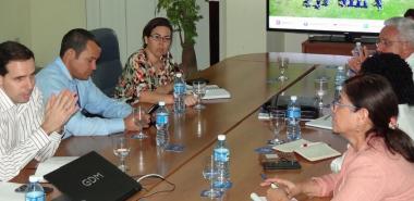 En el encuentro desarrollado en el Salón de Protocolo del docente José Martí, los visitantes se acercaron al quehacer de nuestra institución