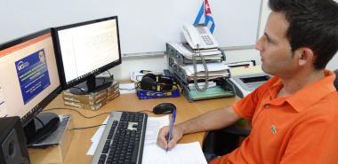 Gerdys Ernesto Jiménez Moya, aspirante a Doctor en Informática en la Universidad de las Ciencias Informáticas.