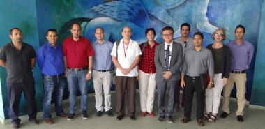 De visita en la UCI, el Sr. Chaesub Lee, director de normalización de la UIT