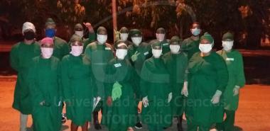 Primer grupo de jóvenes contra la COVID19 en el Centro de Aislamiento UCI-MINSAP