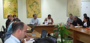 Los trabajadores de la Facutad 1 dialogaron acerca de su desempeño en el 2019. Foto: Juan Félix Hernández Rodríguez