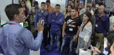 Presentación de la Red Cuba en la XVII Feria Internacional Informática 2018.