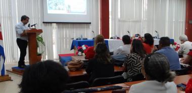 El Dr.C. Walter Baluja García, rector de la UCI, presentó el informe de los resultados obtenidos y los retos propuestos para el 2020