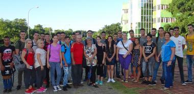 Estudiantes del primer año de Ingeniería en Bioinformática