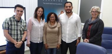 El profesor Dither Balderas Galindo, de la Asociación Mexicana de Educación Continua y a Distancia intercambió con directivos de nuestra institución