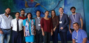 Miembros de la delegación de Universidad 2019 acompañados por representantes de diferentes áreas de la UCI