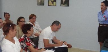 La Dra.C. Roxana Cañizares González, coordinadora de la Maestría presentó el informe del programa a la Junta de Acreditación Nacional