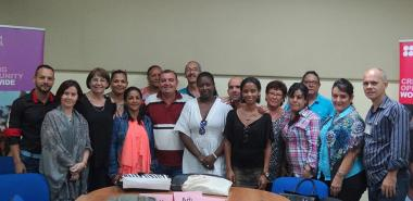 Training participants with the British Council