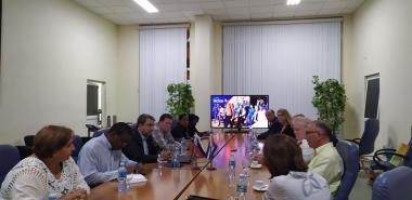 La delegación del Partido Rusia Justa que nos visitó se interesó por particularidades del modelo de formación de nuestra Universidad y el sistema de ingreso a la Educación Superior.