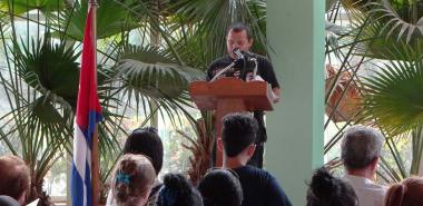 The Dean of School 3, Engineer Yadian G. Pérez Betancourt, synthesized in his speech the purpose of the renovation and functioning of Che Guevara's room.