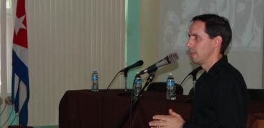 Las palabras inaugurales de la Jornada Científica del Ingeniero en Ciencias Informáticas estuvieron a cargo del Dr.C. Raydel Montesino Perurena, vicerrector primero de la Universidad.