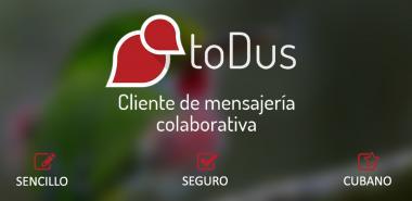 toDus, aplicación de mensajería instantánea.
