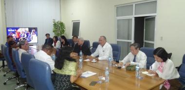 La delegación del Ministerio de Educación Superior y Formación de Vietnam se interesó por las estrategias utilizadas para la preparación político-ideológica de los estudiantes de la UCI.
