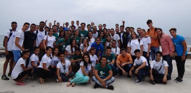 Students and professors of the Introductory Faculty at Círculo Social Obrero Armando Mestre.