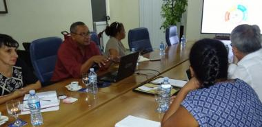 En el encuentro, desarrollado en el Salón de Protocolo del docente José Martí, el visitante se acercó al quehacer de la institución
