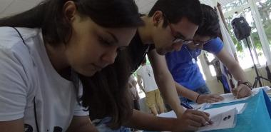 Signing Code of Ethics of University student federation  leaders in the Institution